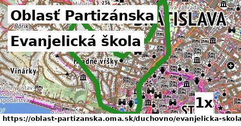 evanjelická škola v Oblasť Partizánska