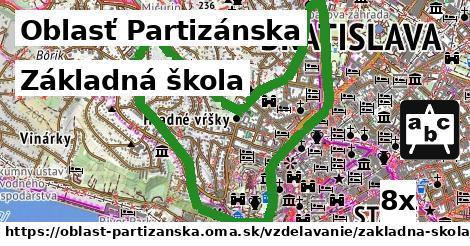 základná škola v Oblasť Partizánska