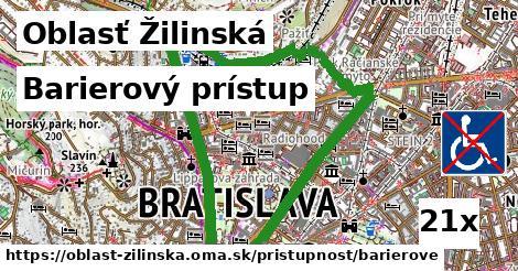barierový prístup v Oblasť Žilinská