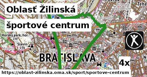 športové centrum v Oblasť Žilinská