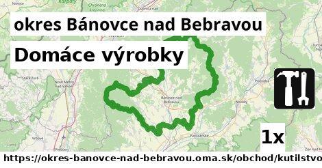 Domáce výrobky, okres Bánovce nad Bebravou