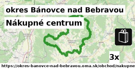 Nákupné centrum, okres Bánovce nad Bebravou