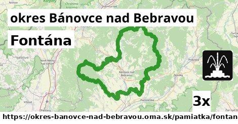 Fontána, okres Bánovce nad Bebravou