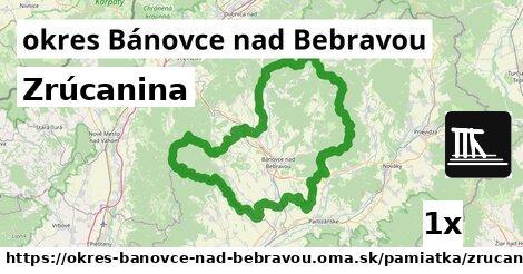 Zrúcanina, okres Bánovce nad Bebravou