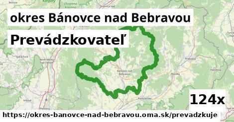 prevádzkovateľ v okres Bánovce nad Bebravou