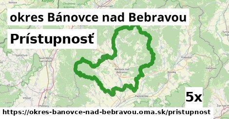 prístupnosť v okres Bánovce nad Bebravou