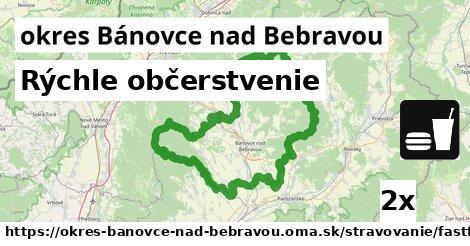 Rýchle občerstvenie, okres Bánovce nad Bebravou