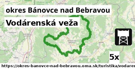 vodárenská veža v okres Bánovce nad Bebravou
