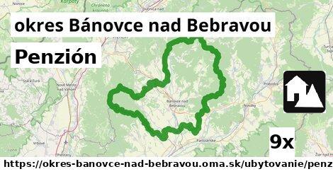 Penzión, okres Bánovce nad Bebravou
