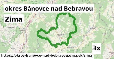 zima v okres Bánovce nad Bebravou