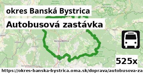 autobusová zastávka v okres Banská Bystrica