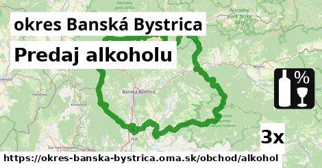 ilustračný obrázok k Predaj alkoholu, okres Banská Bystrica