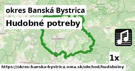 ilustračný obrázok k Hudobné potreby, okres Banská Bystrica
