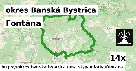 fontána v okres Banská Bystrica
