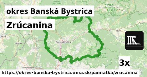 ilustračný obrázok k Zrúcanina, okres Banská Bystrica