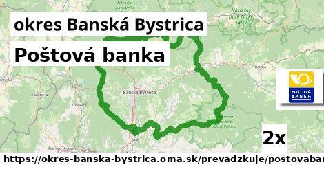 Poštová banka v okres Banská Bystrica