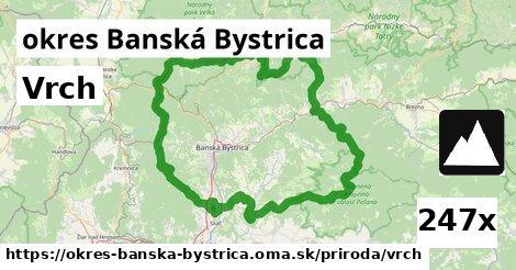 vrch v okres Banská Bystrica