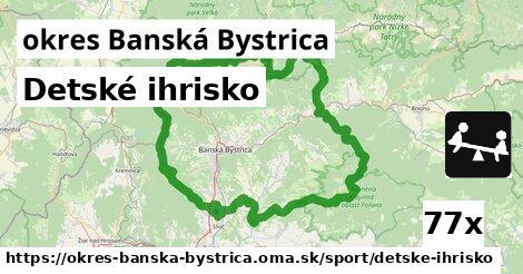 detské ihrisko v okres Banská Bystrica