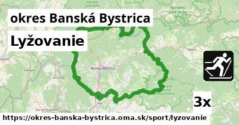 ilustračný obrázok k Lyžovanie, okres Banská Bystrica