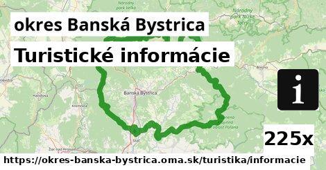 turistické informácie v okres Banská Bystrica