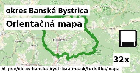 orientačná mapa v okres Banská Bystrica