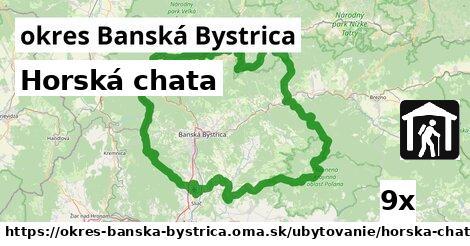horská chata v okres Banská Bystrica