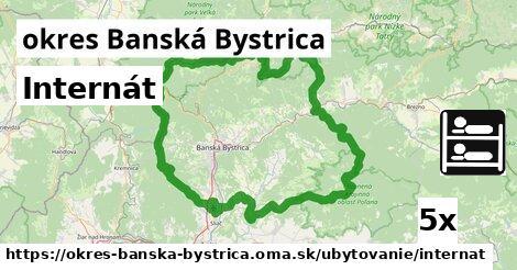 internát v okres Banská Bystrica