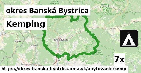 kemping v okres Banská Bystrica