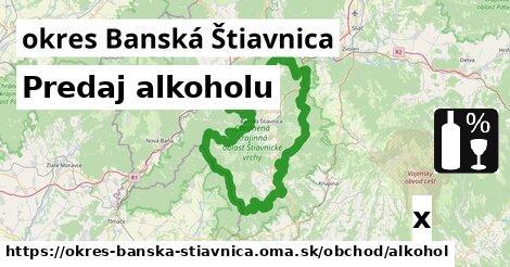 ilustračný obrázok k Predaj alkoholu, okres Banská Štiavnica