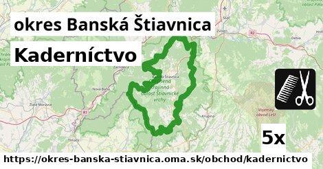 ilustračný obrázok k Kaderníctvo, okres Banská Štiavnica