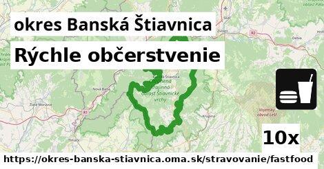 rýchle občerstvenie v okres Banská Štiavnica