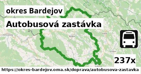 ilustračný obrázok k Autobusová zastávka, okres Bardejov