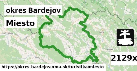 miesto v okres Bardejov