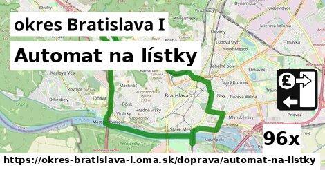 automat na lístky v okres Bratislava I