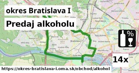 predaj alkoholu v okres Bratislava I
