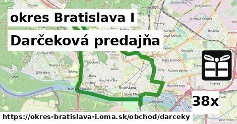 darčeková predajňa v okres Bratislava I