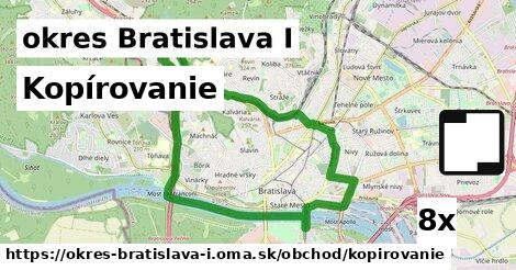 kopírovanie v okres Bratislava I