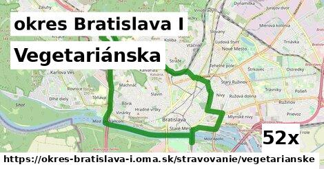 vegetariánska v okres Bratislava I