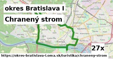 chranený strom v okres Bratislava I