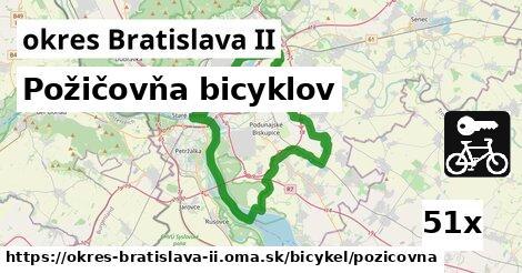 požičovňa bicyklov v okres Bratislava II