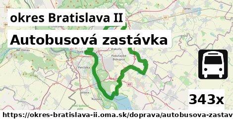 autobusová zastávka v okres Bratislava II