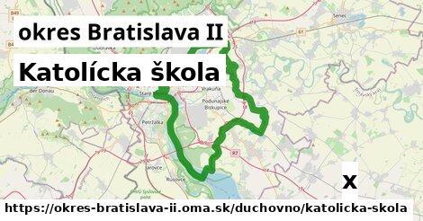katolícka škola v okres Bratislava II