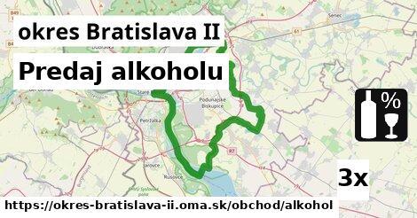 ilustračný obrázok k Predaj alkoholu, okres Bratislava II