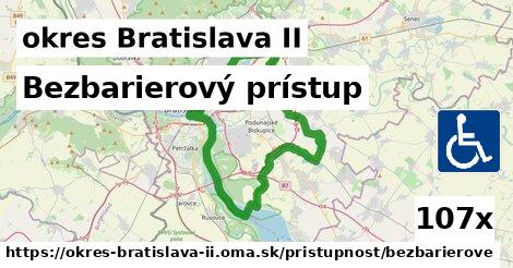 bezbarierový prístup v okres Bratislava II