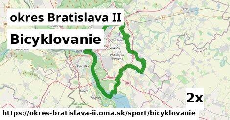 bicyklovanie v okres Bratislava II