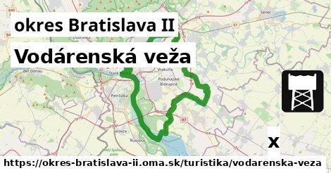 vodárenská veža v okres Bratislava II