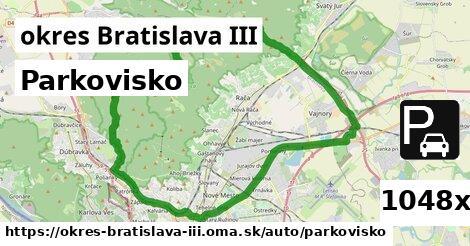 Parkovisko, okres Bratislava III