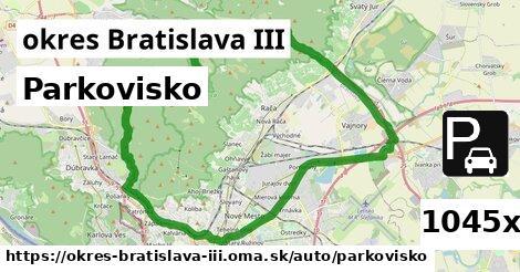 ilustračný obrázok k Parkovisko, okres Bratislava III