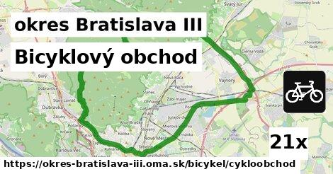 Bicyklový obchod, okres Bratislava III
