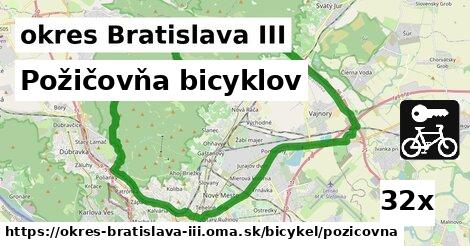 Požičovňa bicyklov, okres Bratislava III